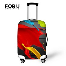 Women Elastic Luggage Covers Leaf Printed Travel Luggage Cover Waterproof Suitcase Covers for 18/20/22/24/26/28/30inch Cases