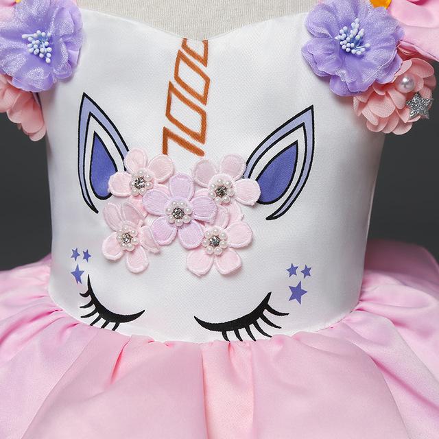 Robe Licorne Tutu Princesse Pour Enfants