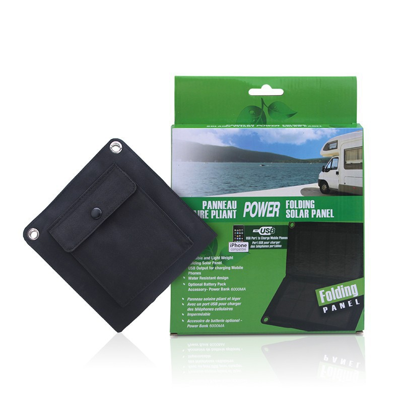 Folding solar panel portable