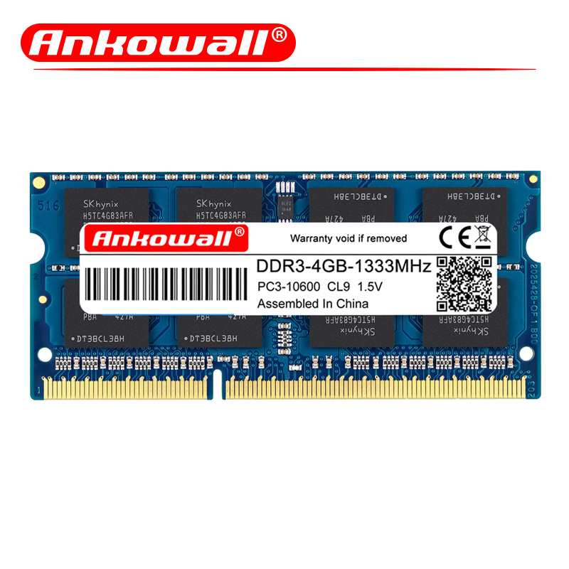 ANKOWALL DDR3 2GB/4GB/8GB Laptop RAM Memory with 1333MHz/1600MHz Memory Speed 10