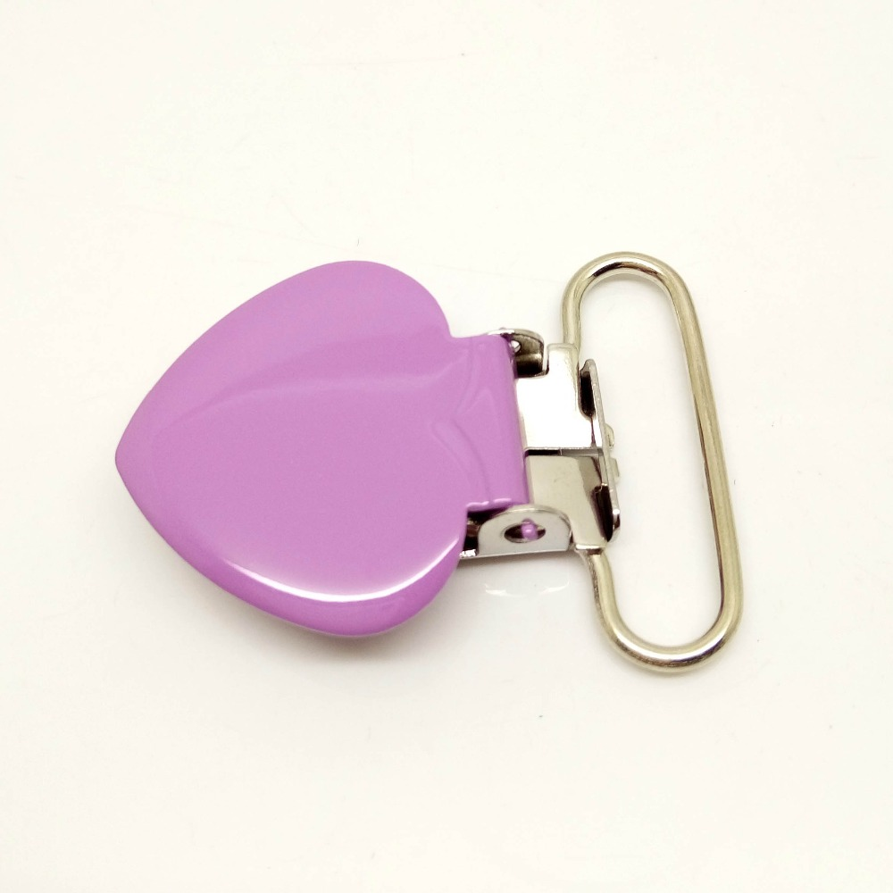50pcs per lot metal suspender clips wholesale heart suspender clips enamel suspender clips