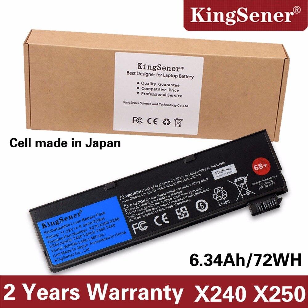 KingSener Nouvelle Batterie pour Lenovo Thinkpad X270 X260 X240 X240S X250 T450 T470P T450S T440 T440S K2450 W550S 45N1136 45N1738 68 +