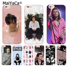 Coque de téléphone MaiYaCa One Direction 1D harry styles pour iphone 11 Pro XR XS Max 8 7 6 6S Plus X 10 5 5S SE XS XR XSMAX(China)