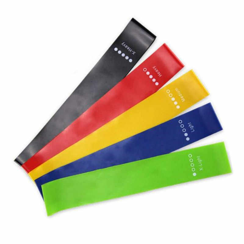 5 Colors Yoga Resistance Rubber Bands Indoor Outdoor Fitness Equipment Pilates Sport Training Workout Elastic Bands 0.35mm-1.1mm