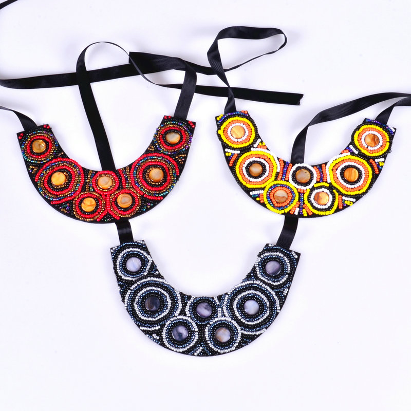 HOT handmade Colourful resin ethnic style collier necklace & new arrived Big exaggerated vintage choker collar necklace EN-0026