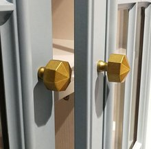 1PC Pure Copper Knobs Cabinet Door Knob Handles Dresser Pulls Drawer Pull Antique Brass Rustic Kitchen Cupboard