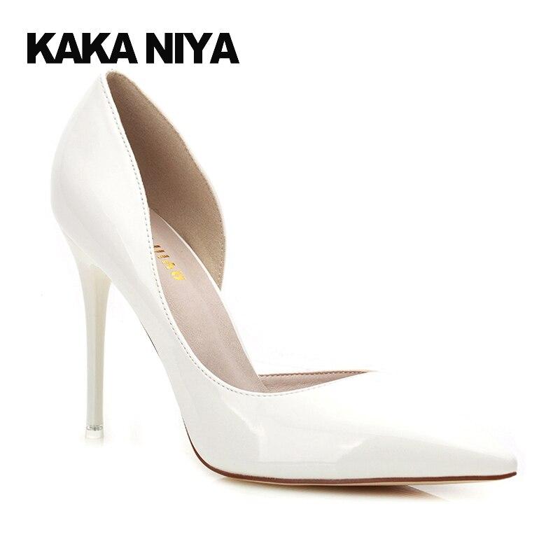 9 4 Haute Verni Pompes De blanc Femmes D'orsay Cuir Cm Chaussures Slip Mode Pointu rouge Blanc D'été 2017 Rouge Orteil Noir Mince Sexy Pouce Talons En Extrême xY8ZqOx