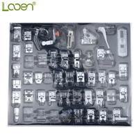 Looen Domestic Sewing Machine Presser Foot Feet Kit Set With Box 48 pcs Sewing Machine Accessories For Women Mom DIY Craft Tools