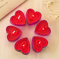 Romantic Heart Wedding Gift Candle Party Red Small Christmas Scented Candles Birthday Tealight Bougies Candle Decorative 30