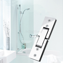 1PCS Shower Room Rectangle 180 Degree Mirror Glass Hinge Square Stainless Steel Bathroom Clip HM17/1