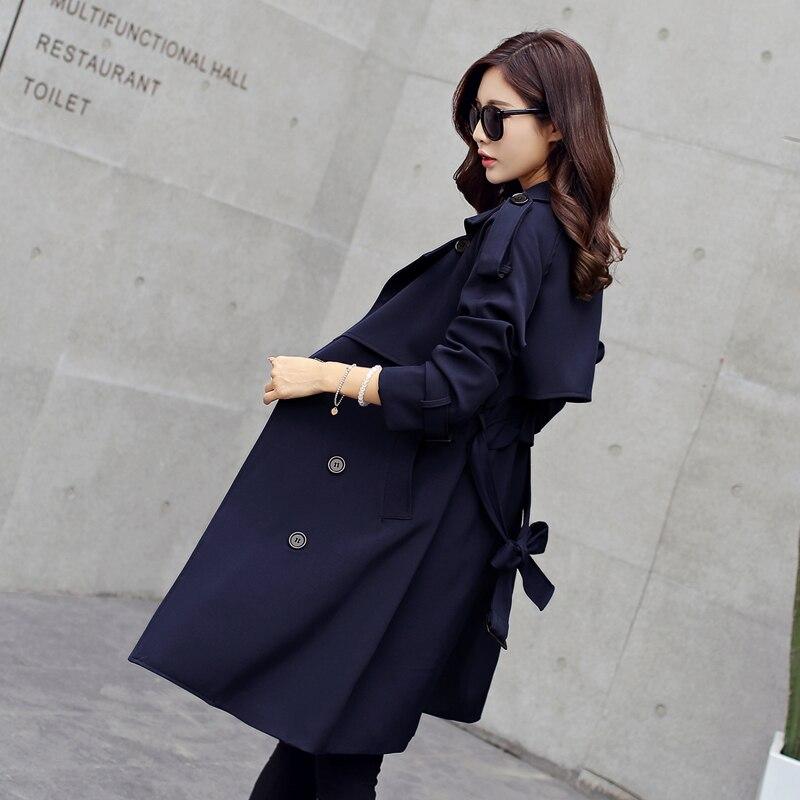 Nouveau 1 Britannique 2 Section Et Longue Vent Tempérament Dans Slim Mode Printemps De La Manteau Couleur Mince Fashion2017 Automne Était dqwRdz
