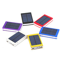 Portable Fast Emergency Super Charger Dual USB External Quick Battery 20000mAh Solar Power Bank For Smart