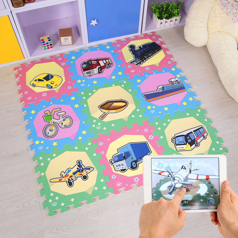 Finger Rock 9pc/lot 30*30*1cm AR 3D Smart Baby EVA Foam Puzzle Play Mat Toy Interlocking Exercise Floor Tiles Carpet Rug for Kid cute letter eva foam baby toy puzzle play mat interlocking game exercise gym tile floor pad child kid 30x30x1 3cm 30pcs 22border