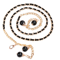 Hot SellingWomen's Lady Fashion Metal Chain Pearl Style Belt Body Chain Waistband Ceinture High Quality Nice Gift
