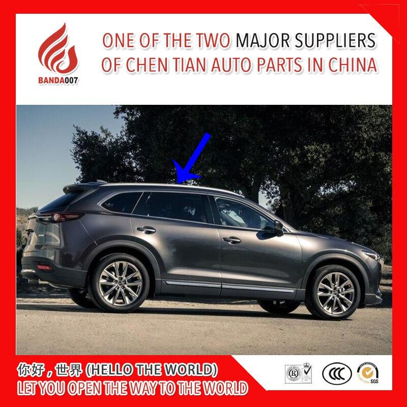 Di alta qualità In lega di Alluminio a vite installare side ferroviarie bar portapacchi per Mazda CX-9 cx9 2016 2017 2018 16 17 18