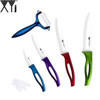 Sharp Kitchen Knife 5 Pcs Set Multi Color Cooking Tools XYJ Brand Ceramic Knife Set 6