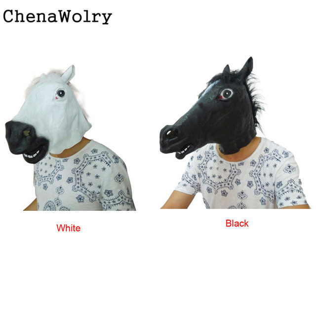 ChenaWolry Le 2017 western style cheval masques Halloween Party Cheval  Latex Masque s 29