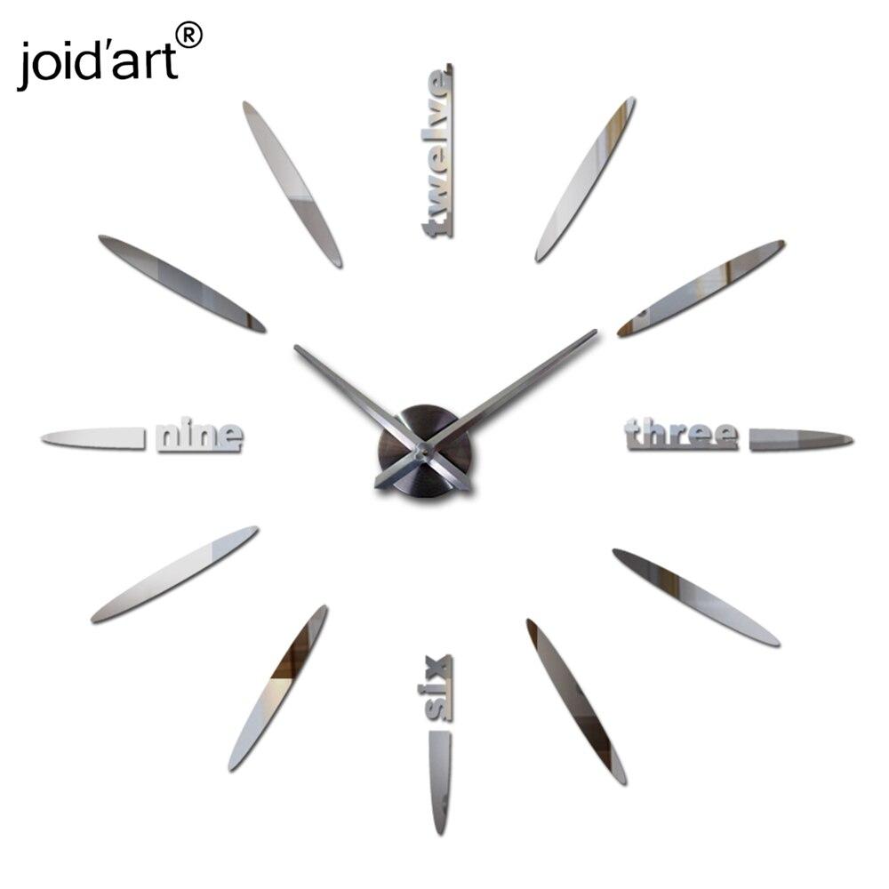 nový hot prodej hodiny hodinky nástěnné samolepky hodiny domácí dekorace moderní křemen diy 3d akrylové samolepky Mirror Metal