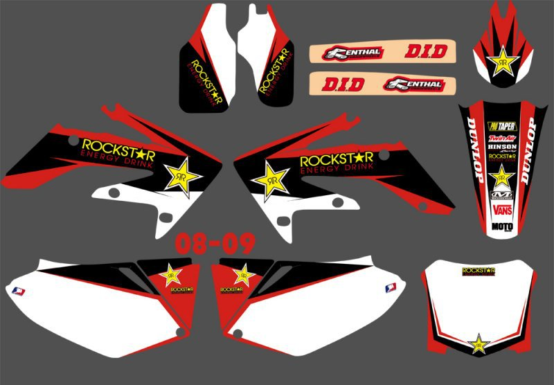 GRAPHICS & BACKGROUNDS DECALS STICKERS Kits for Honda CRF250 CRF250R 2008 2009 CRF 250 250R CRF 250 R new hot 2014 2015 two sides new aluminum radiator for honda crf 250 r crf250r crf250 brand motorcycle both of side of oem parts
