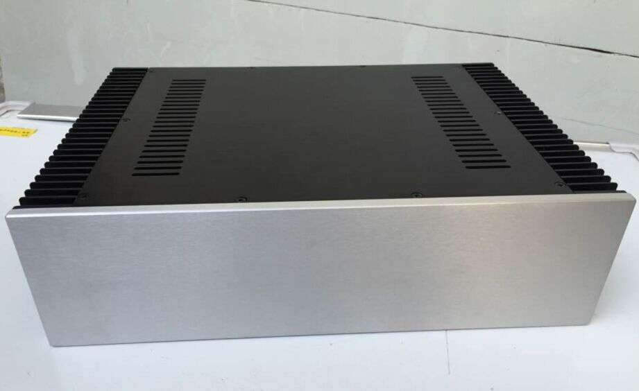 4312A silver full Aluminum Preamplifier enclosure/case/ amplifier chassis AMP BOX 4308 rounded chassis full aluminum enclosure power amplifier box preamplifier chassis