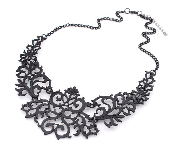 Brand Design Fashion Trendy Vintage Elegant Charm Openwork pattern Pendant Necklace For Woman 2015 New Statement Jewelry HT-15