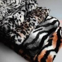 Leopard Tiger stripes plush faux fur vải, 1-2 cm đống cảm thấy, Bức Ảnh Nền vải, Xe trang trí thảm, 150 cm * 50 cm/chiếc