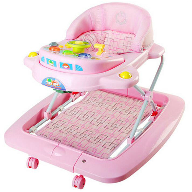 Hot Sale Children Baby Walker Multifunctional Music Plate Folding Easy Anti-rollover Safety Rocking Horse Baby Walkers