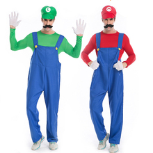 Interesting Suit Game for Adults Mario Brothers Plumber Role Playing Men's Cosplay