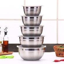 Ингредиенты в режиме ожидания чаши миска из нержавеющей стали DIY торт хлеб салат кухонных миксер кухонная утварь