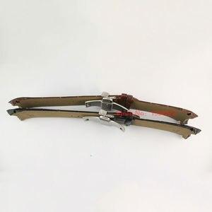 Image 3 - 23 мм (пряжка 20 мм) T035617A T035439, Высококачественная серебристая пряжка бабочка + коричневый черный ремешок из натуральной кожи с изогнутым концом