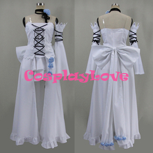 New Custom Made Japanese Anime White Pandora Hearts Alice Dress Cosplay Costume Christmas Halloween High Quality