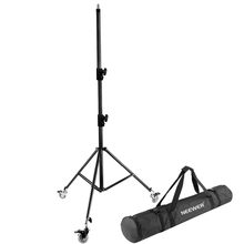 Neewer Photography Adjustable 102 inches/260 cm Light Stand Tripod with Caster Wheels+Carrying Case for Ring Light Studio LED(China)