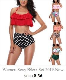HTB1K3FjbEjrK1RkHFNRq6ySvpXaQ Push up Bikini Set Women Halter Ruffle Biquini Swimwear Low Waist Sexy Swimsuit Women Beach Bathing Beachwear Bandage Bikini Set