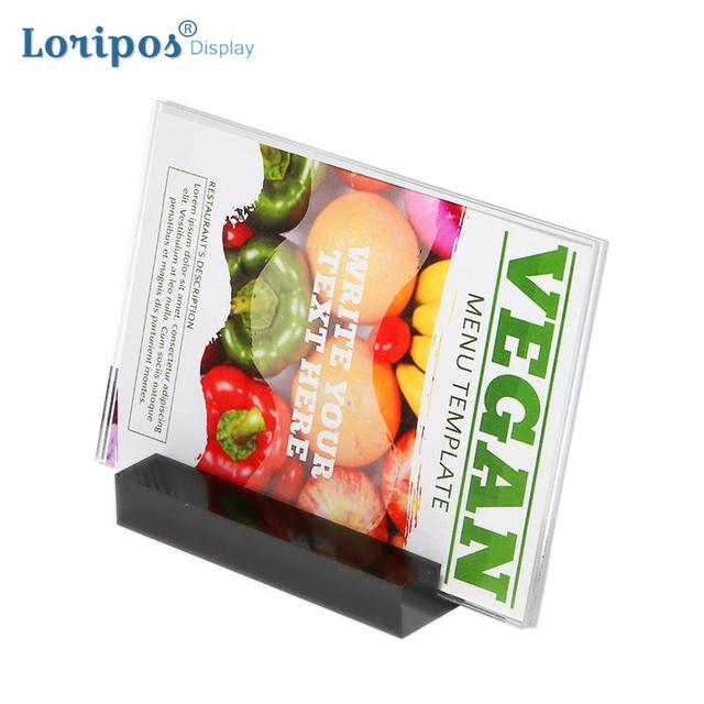 200x100mm Acrylic Wedding Photo Frame Stand Advertising Poster Frame Paper Info Rack Card Holder Desk Price Tag Display Stand
