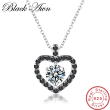 [BLACK AWN] 925 Sterling Silver Fine Jewelry Trendy Engagement Necklace for Women Necklace Pendants P104
