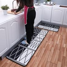 2Pcs/Set Bathroom Doormat Floor Mat Anti-slip Water Absorption Carpet Kitchen Mat Door Mat Kitchen Floor Toilet Rug Door Mat