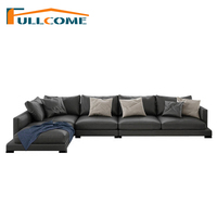 China Luxury Home Furniture Modern Leather Sofa Love Seat Chair Recliner Living Room Furniture Fabric Down Italian Sofa Casa