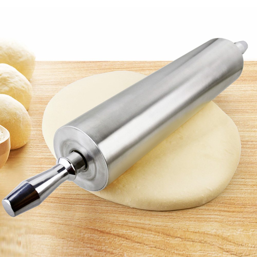 Metal Rolling Pin Home Decoration Kitichen Cooking Tools Wood Handle Kitchen Green Silicone Rolling Pins in Rolling Pins Pastry Boards from Home Garden