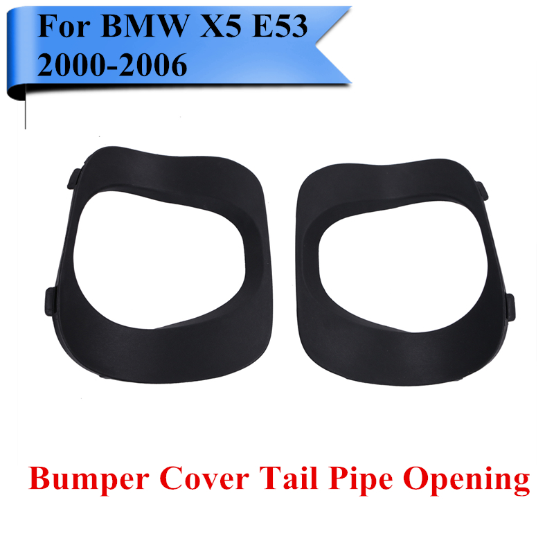 2x Pipe Rear Cover For Bumper Tail Pipe Opening For Bmw X5