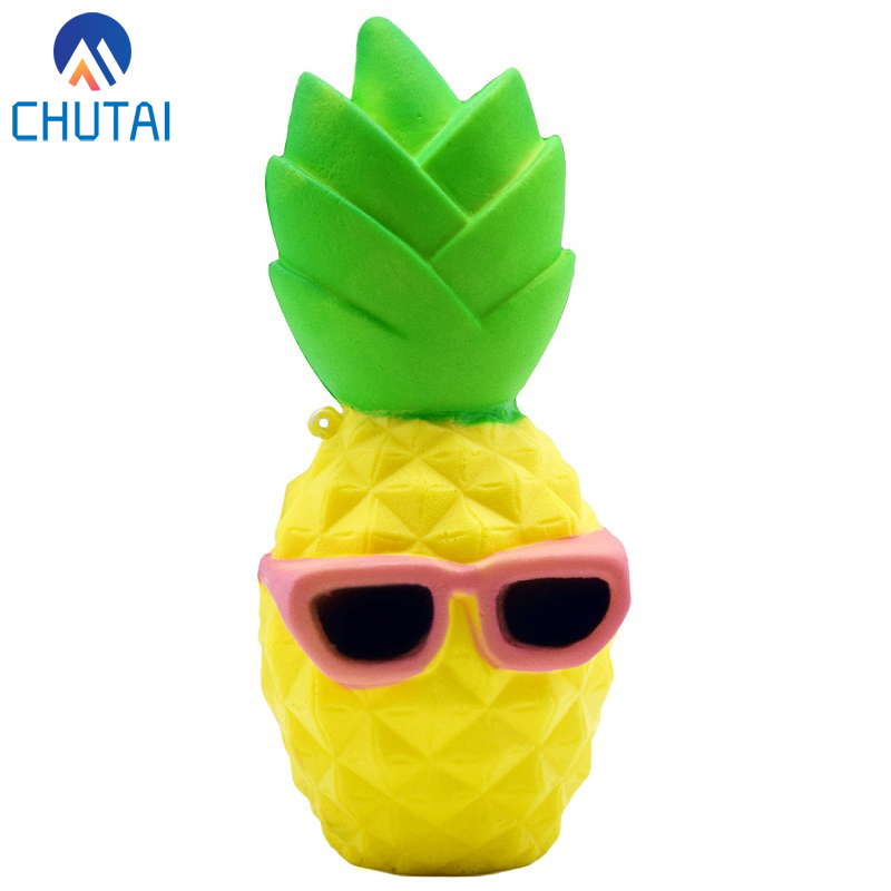 Kawaii Jumbo Squishy Toy Fruit Pineapple Slow Rising Relieves Stress Toy for Children Adults Anxiety Attention 15.5*7CMStress Relief Toy