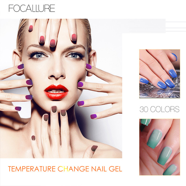 FOCALLURE Nail Gel Polish Temperature Change Colors UV Gel Hot Cold ...