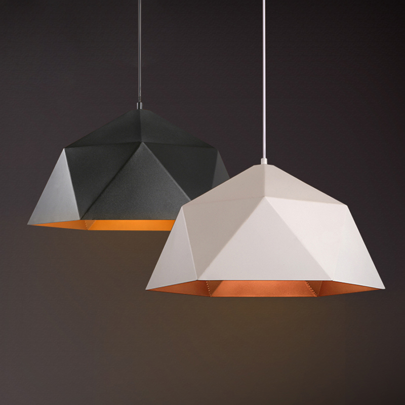 Geometric Lighting American Country Creative Loft Retro Geometric Iron Diamond Led E27 Pendant Light For Dining Room Restaurant Lighting O