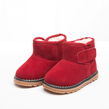 snow boots children 2017 thick winter plush warm boys boots Red beef tendon soft bottom snow boots girls childrens shoes