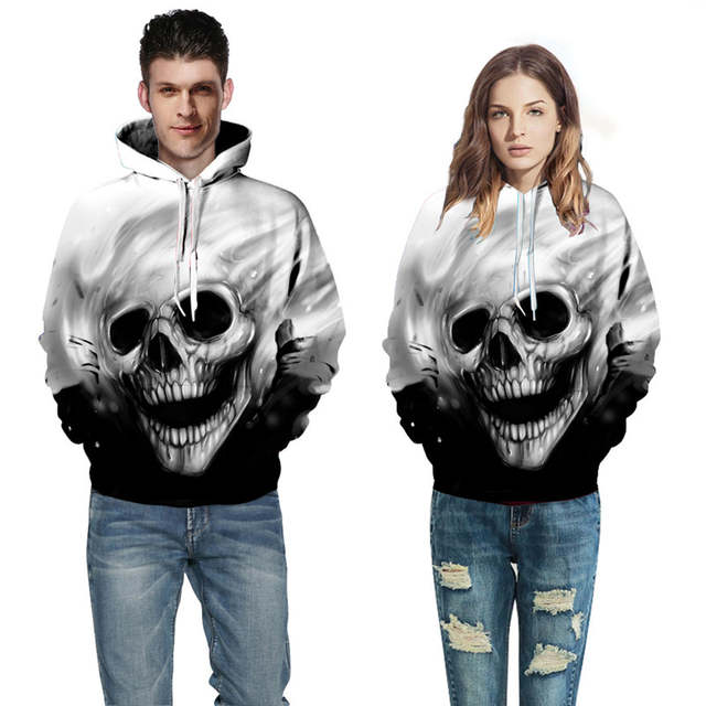 0acaf8432013 Online Shop 2018 3D Hoodies Men Hooded Sweatshirts Melted Skull 3D Print  Casual Pullovers Streetwear Tops Plus Size Autumn Regular Hipster