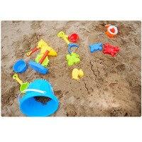 Chanycore חול צבעוני ילדי חוף ים חוף מים לשחק צעצועי סט 13 יחידות דלי שובל לגרוף ערכת בניין סוס ים תבניות צעצוע