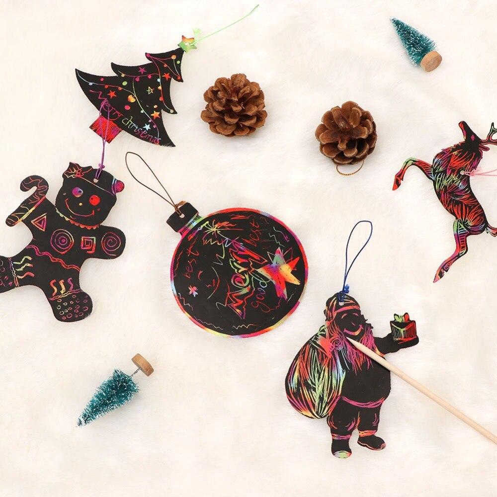 Aytai 24pcs DIY Christmas Ornaments Magic Color Scratch Party DIY ...