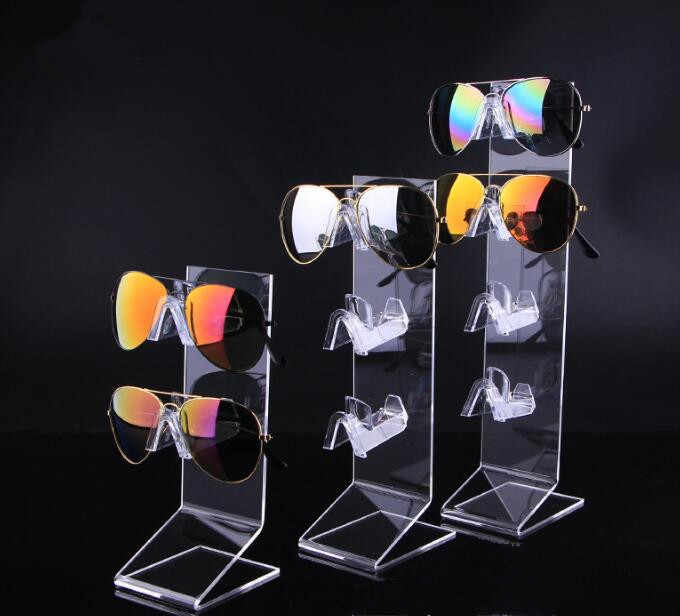 High quality Sunglasses Glasses Show Rack Counter Display Stand Holder clear acrylic Jewelry packaging night vision watch shelf