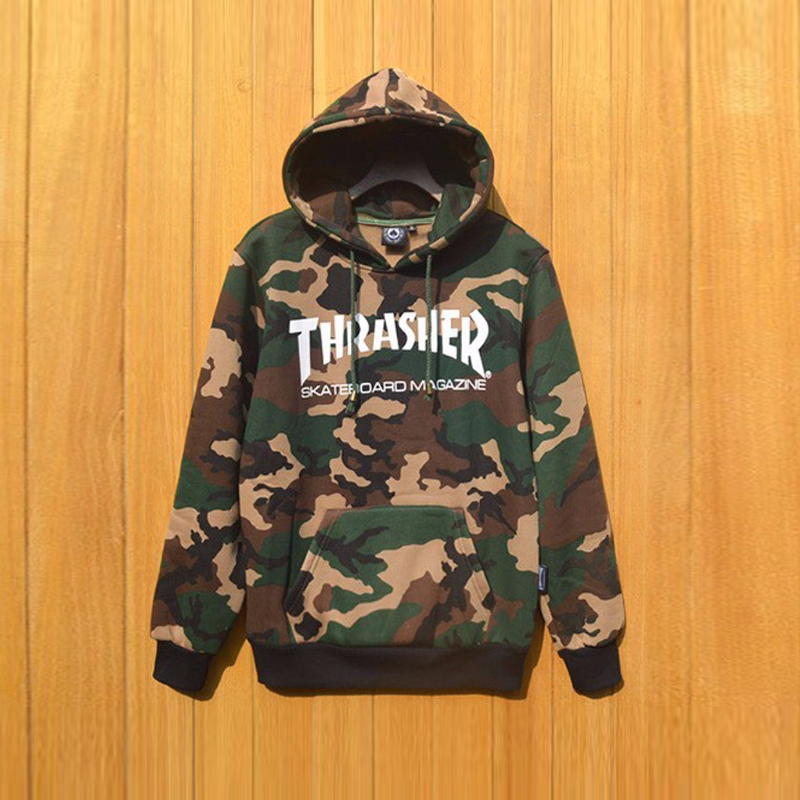2017 hombres mujeres pareja thrasher camuflaje su ter jersey patineta thrasher hoodies de ropa. Black Bedroom Furniture Sets. Home Design Ideas