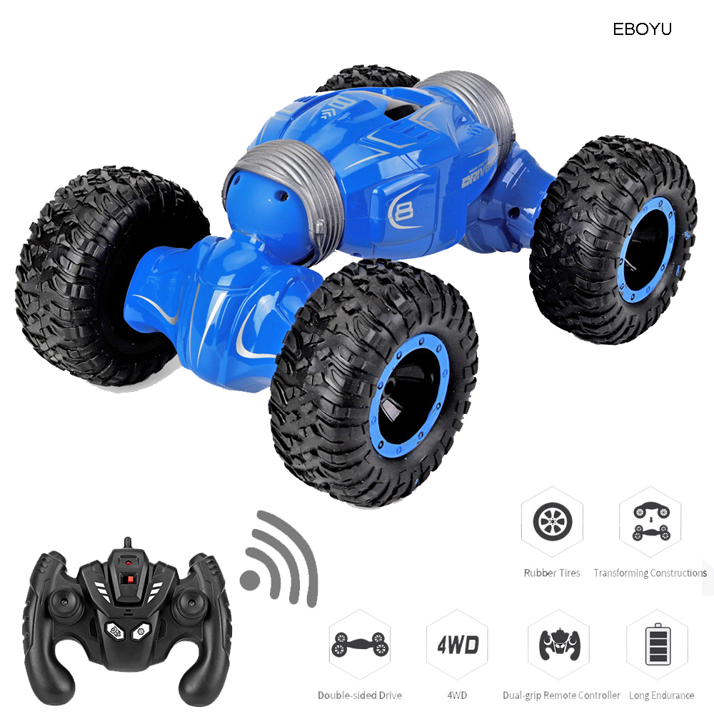 JJRC Q70 RC Car 2.4Ghz 1:16 RC Stunt Car 4WD 15km/h Double-sided Fip Deformation Climbing RC Monster Rock Crawler