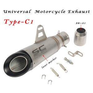 Image 4 - 36 мм ~ 51 мм Универсальная модификация выхлопной трубы мотоцикла Escape Модифицированная выхлопная труба для мотокросса R1 R6 R3 Z900 KTM390 K8 CBR